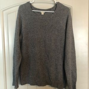 Grey sweater from J Crew